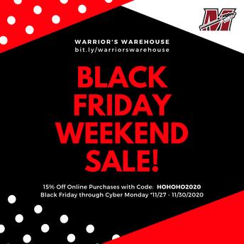 Warrior's Warehouse ONLINE SALE!