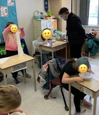 Learning about Sound and Structures in Mme Oleschuk's Class