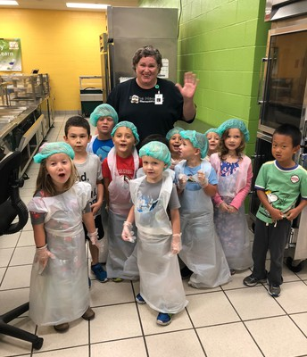 Preschool got to tour the kitchen!