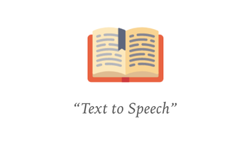 "Options for ""Text to Speech"""