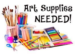 Art Supply Donations Needed