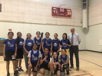 2019 Basketball Champions Girls A Team