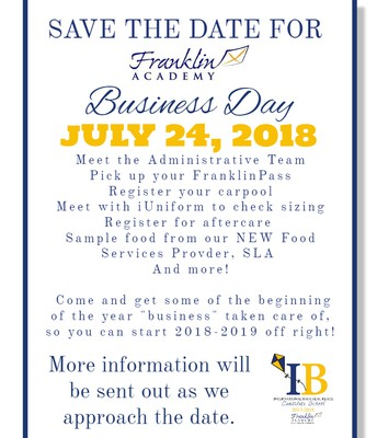 Save the Date: Business Day