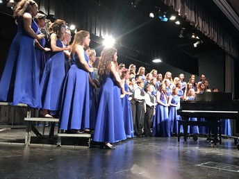 Concert Choir performing at SCVA Festival