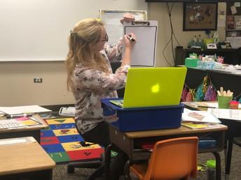 Mrs. Beilharz Demonstrating For Art