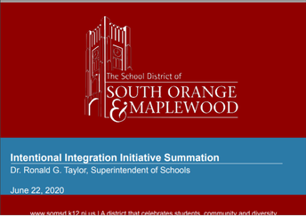 Week's Highlights:  BOE Unanimously Approves the SOMSD Intentional Integration Initiative Framework