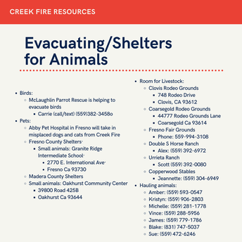 Evacuating Animals