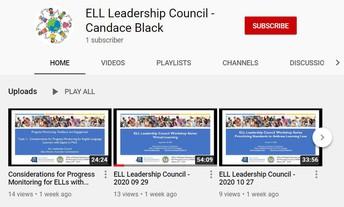 ELL Leadership Council Professional Development