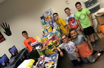 Ryan Elementary student council school supply drive