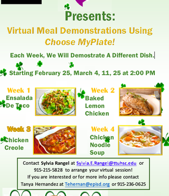 Virtual Meal Demonstrations Using Choose MyPlate