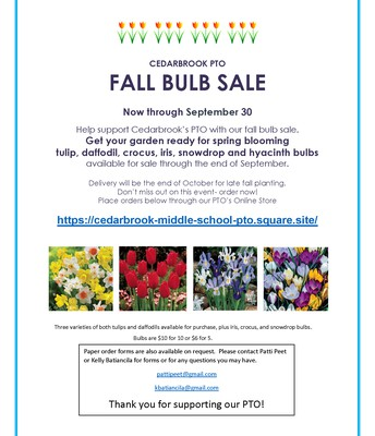 CBK PTO | Fall Bulb Sale