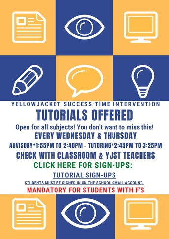 Tutoring Available to all Students