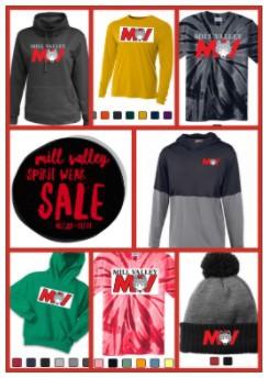 Get your Mill Valley Spirit Wear!!