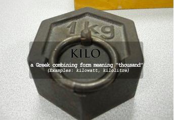 kilogram, kilowatt