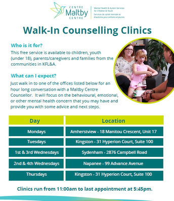 Maltby Walk-In Counselling Services
