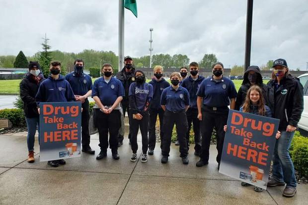 Drug Take Back Event Volunteers in Battle Ground