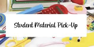 Student Learning Materials Alternate Pick-up Date