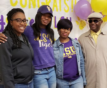 Hastings High School student Anita Anwusi commits to Louisiana State University.