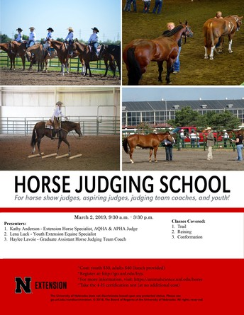 Horse Judging School 2019