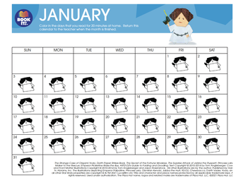 JANUARY BOOK IT CALENDAR