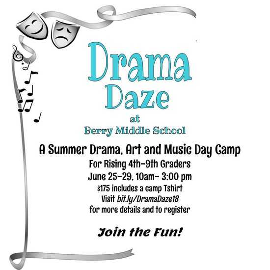 Drama Days Drama Camp at Berry Middle School