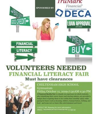 Financial Literacy Fair Volunteers Needed