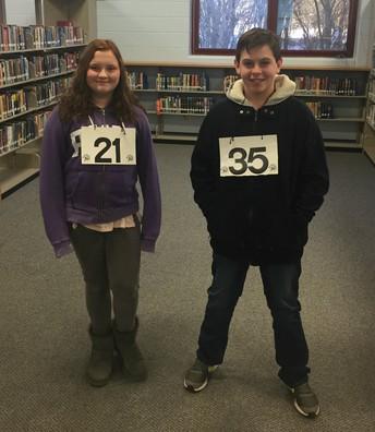 HBMS Spelling Bee Finalists