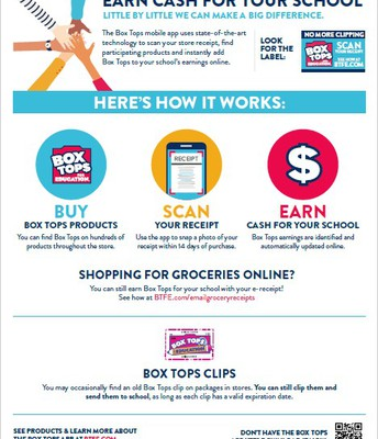 Box Tops Cash for School!