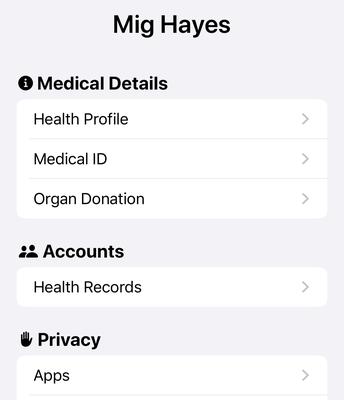 Complete Medical Profile