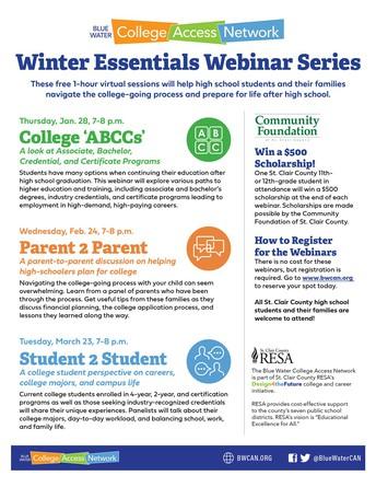 Win a $500 Scholarship at a Winter Essentials Webinar Series Event!