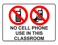 Cell Phone Procedure Update Starting January 8, 2020