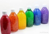 Calming glitter sensory bottles