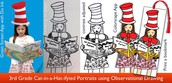 192. Cat-in-a-hat-ified Bookmarks