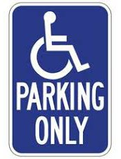 PARKING IN DISABLED BAYS IN FRONT OF THE SCHOOL