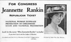 Jeannette Rankin becomes first U.S. Congresswoman