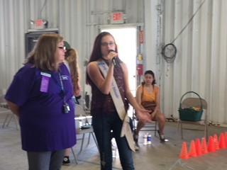 Haylee Speaks to 4-H Group