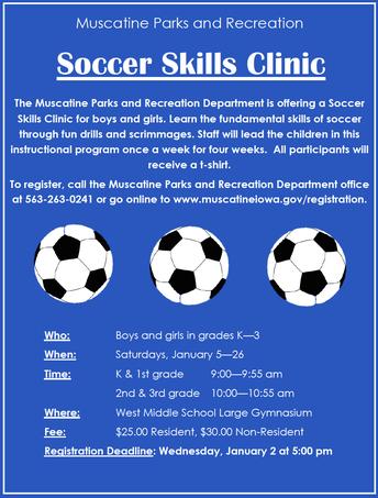 Soccer Skills Clinic 2018