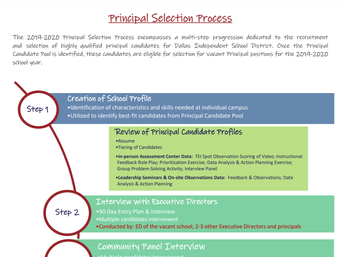 Principal Selection Breakdown