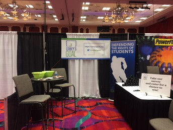Corey's Goal exhibiting at its' first trade show.