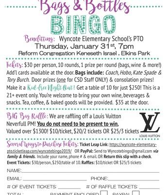 Bags & Bottles Bingo