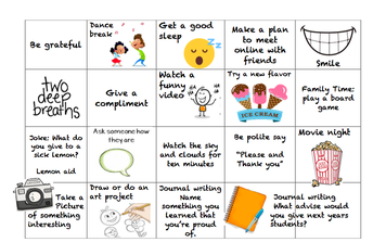 Social emotional Wellness & Healthy Habit Calendar (pg.2)