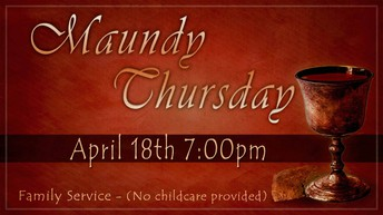 Special Maundy Thursday & Healing Service