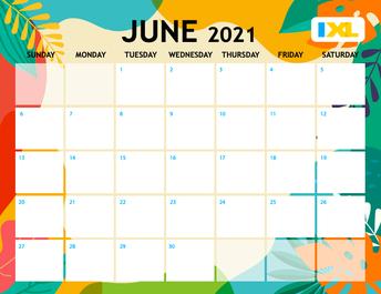 IXL Skills Calendar