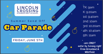 Summer Send Off Car Parade - June 5th!