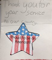 Students Thank MIlitary