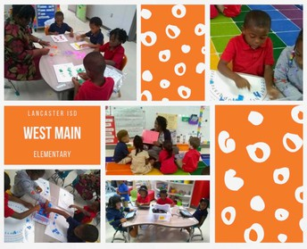 Ms. Wright helping with Pre-K Stations