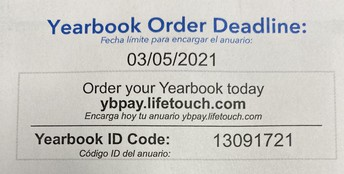 Yearbook orders are due