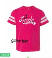 Glitter Football T-Shirt