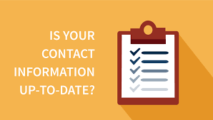Is your contact information correct in our system?
