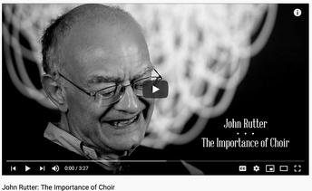 Rutter: Importance of Choir